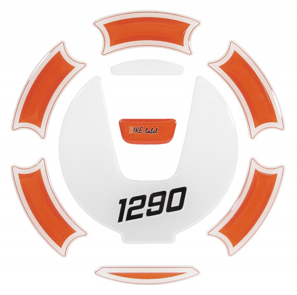 Tankdeckel-Pad Lackschutz Aufkleber passend für KTM 1290 Super Duke R / Super Adventure R+S - Styling Orange