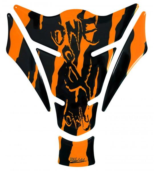 Tankpad Motorrad Monster Aufkleber neon Orange