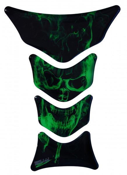 BIKE-label 500150 Tankpad Motorrad Aufkleber Ghost Green