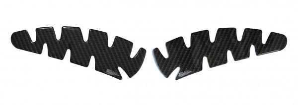 BIKE-label 800022 Seitentank Pad Motorrad Lackschutz Aufkleber Carbon Braun