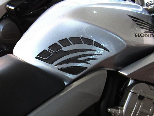 Seitentank-Pad - Carbon Schwarz Optik