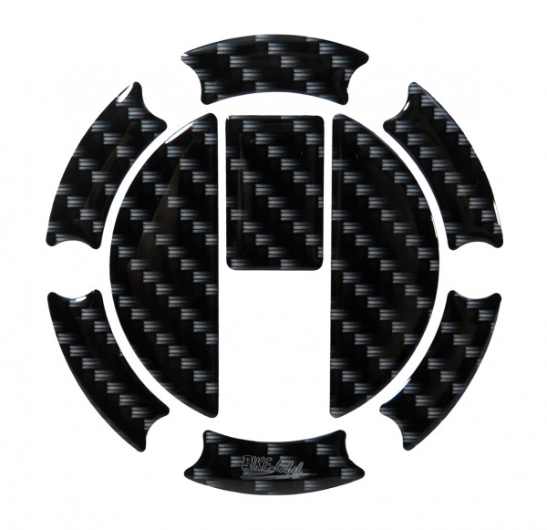 Tankdeckel Pad Carbon-Optik Schwarz Druck universell kompatibel für Triumph