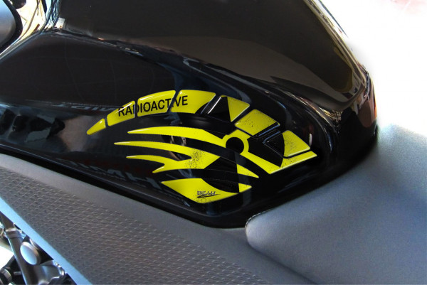 BIKE-label 810008 Seitentank Pad Motorrad Aufkleber Radioaktiv Gelb Biohazard