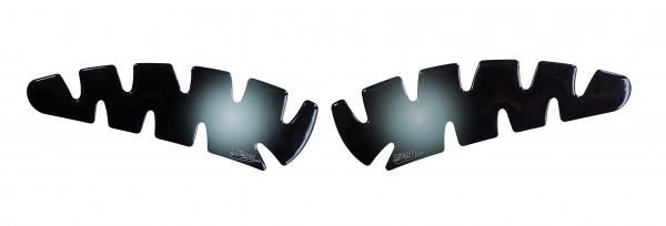 BIKE-label 800024 Seitentank Pad Motorrad Aufkleber Transparent Schwarz Verlauf