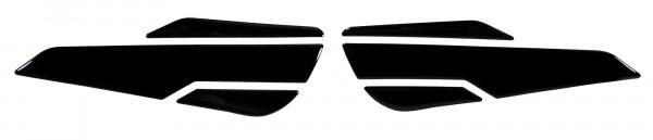 Seitentank Pad schwarz black Motorrad Schutz Aufkleber kompatibel für Kawasaki Z900