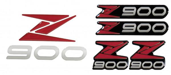 3D-Logo-Aufkleber Emblem Rot Red Badge Sticker kompatibel für Kawasaki Z900