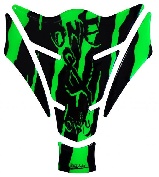 BIKE-label 501784 Tankpad Motorrad Monster Aufkleber neon Grün