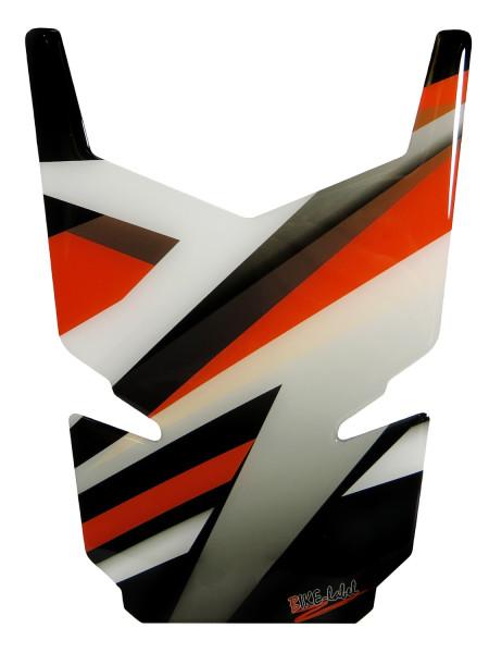 BIKE-label 502546-D Tankpad Motorrad Aufkleber Orange Stripes