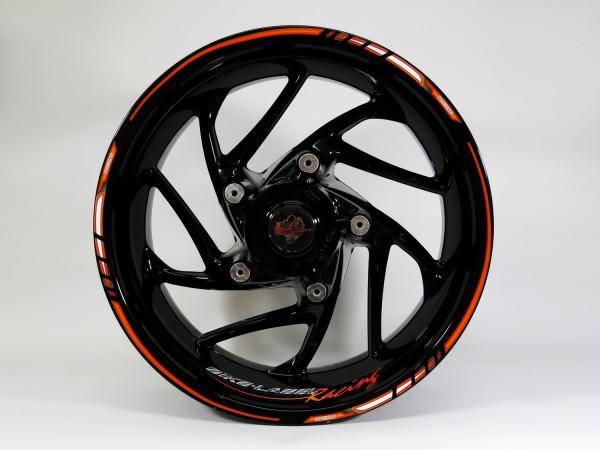 Felgenrand-Aufkleber - Orange-Black Touring - Vorne 19-21 Zoll / Hinten 17-19 Zoll