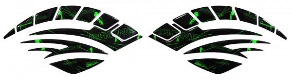 BIKE-label 800091 Seitentank Pad Motorrad Lackschutz Aufkleber Racing Neon Grün