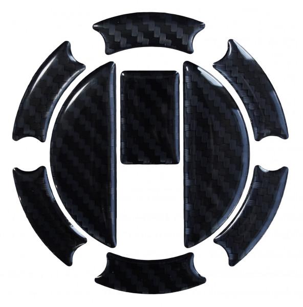 BIKE-label 650006 Tankdeckel Pad Carbon Schwarz universell kompatibel für Triumph