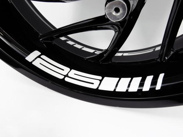 BIKE-label Felgenbett Aufkleber kompatibel für KTM 125 versch. Farben wählbar