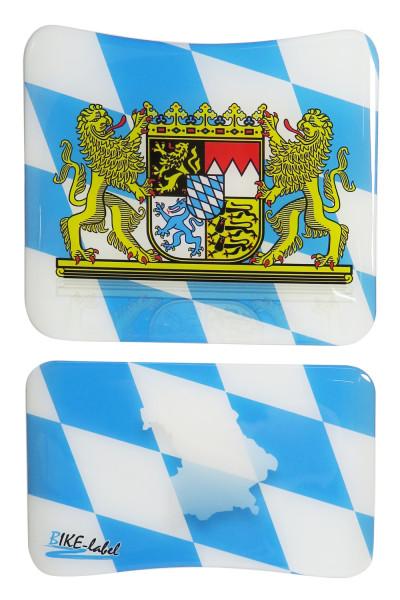 BIKE-label 502422 mini Tankpad Motorrad Aufkleber Bayern