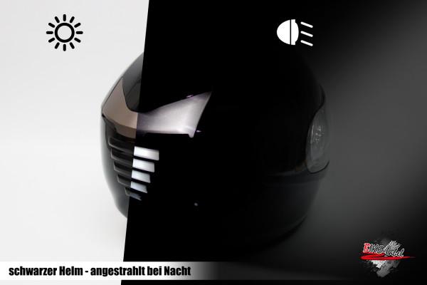 BIKE-label 910031 Helm Protektorsticker Reflex schwarz Sicherheit bei Nacht