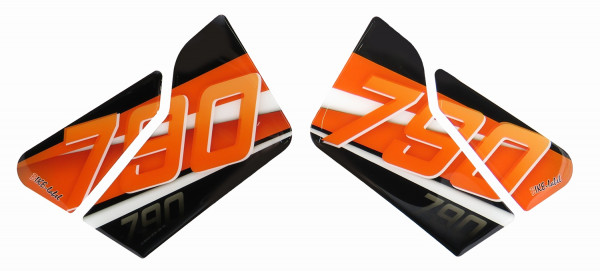 BIKE-label 800480 Seitentank Pad Orange Stripes kompatibel für KTM 790 Duke