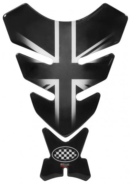 Tankpad Union Jack Silver / England Flagge Form 11