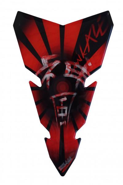 BIKE-label 501760 Tankpad Motorrad Aufkleber Kamikaze Rot