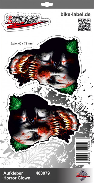 BIKE-label 400079 Aufkleber Sticker Horrorclown Joker Es