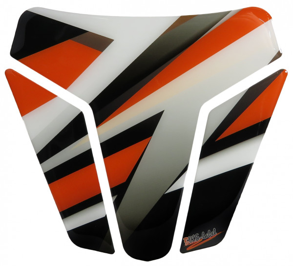 BIKE-label 502572-D Tankpad Motorrad Aufkleber Orange Stripes