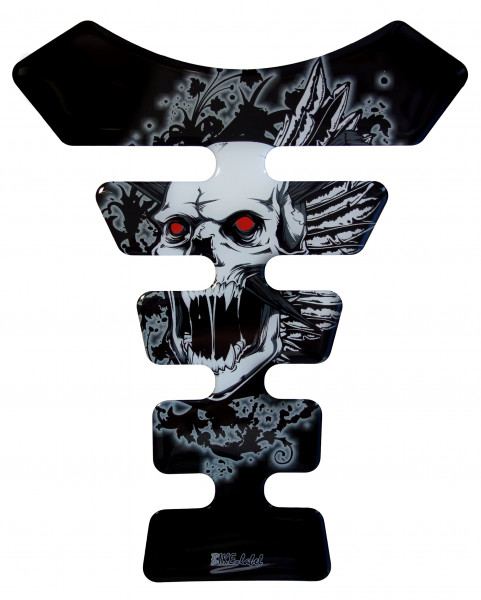 BIKE-label 500460 Tankpad Motorrad Aufkleber Totenkopf schwarz Skull