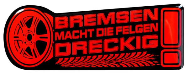 BIKE-label 910018 Aufkleber neon rot Bremsen macht die Felgen dreckig