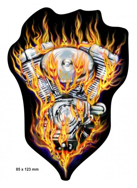 BIKE-label 400062 Aufkleber Sticker Motor in Flammen und Feuer