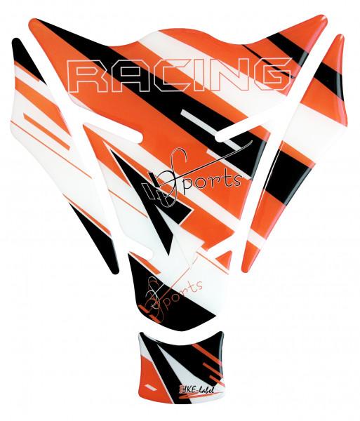 BIKE-label 501731 Tankpad Motorrad Aufkleber Racing Sports Orange