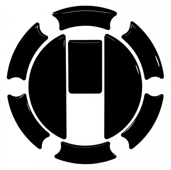 BIKE-label 650005 Tankdeckel Pad Black universell kompatibel für Triumph