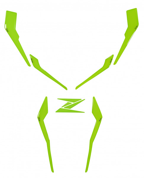 Dekor Schutz-Aufkleber Grün Frontmaske Kotflügel Tankverkleidung kompatibel für Kawasaki Z900
