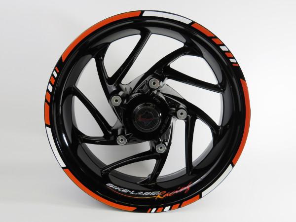 Felgenrandaufkleber Orange Racing - Vorne 19-21 Zoll / Hinten 17-19 Zoll