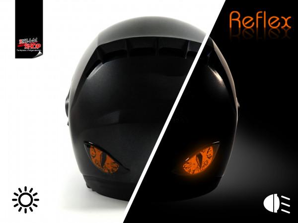 BIKE-label 910067 Deko Helm Aufkleber Böse Augen rückstrahlend reflex orange