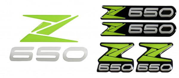 3D-Logo-Aufkleber Emblem Grün Badge Green Sticker kompatibel für Kawasaki Z650