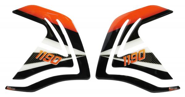 BIKE-label 800125 Seitentank Pad Carbon Orange kompatibel für KTM 1190 Adventure + R