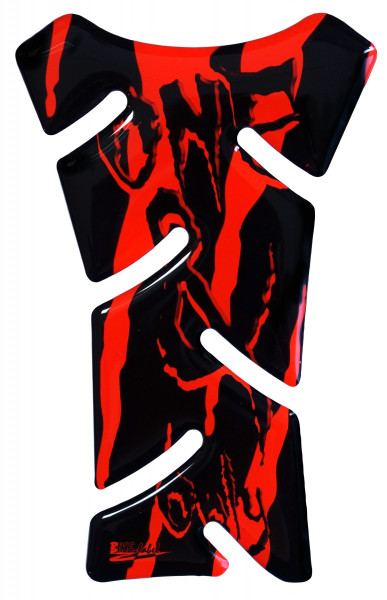 BIKE-label 501797 mini Tankpad Motorrad Monster Aufkleber neon Rot