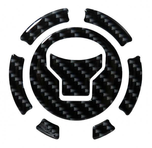 Tankdeckel Pad Carbon-Optik Schwarz Druck universell kompatibel für Honda