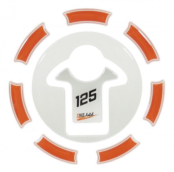 Tankdeckel-Pad Lackschutz Aufkleber passend für KTM 125 Duke - Styling Orange