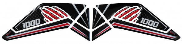 BIKE-label 800320 Seitentank Pad Carbon Red kompatibel für Honda CRF 1000L Africa Twin