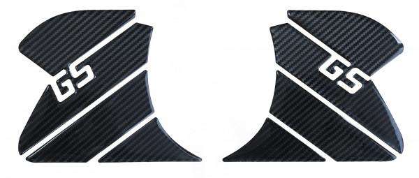 BIKE-label 800262 Seitentank Pad Carbon Schwarz kompatibel für BMW R1200 GS Adventure