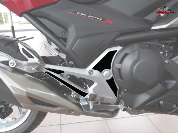 BIKE-label 550063 Deko Schutz-Aufkleber Fußraste Black kompatibel für Honda NC 750X