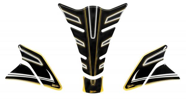 Tankpad Set (Tankpad + Seitentankpad) - Lackschutz für Motorrad Tanks - Metallic Gold