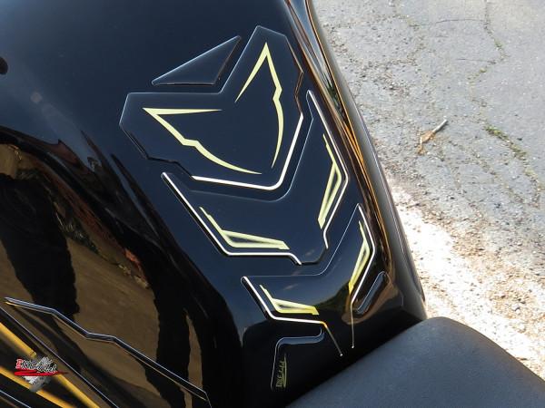 BIKE-label 502200 Tankpad Aufkleber Gold Stripe Black kompatibel für Yamaha FZ 800