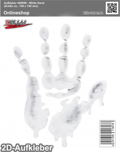 Aufkleber 2D Sticker - White Hand 149 x 195 mm