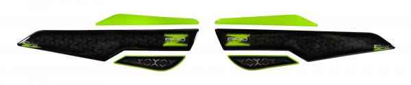 Seitentank Pad Grün Grau Motorrad Schutz kompatibel für Kawasaki Z900