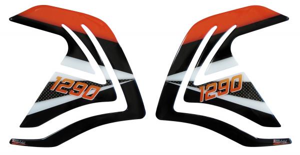 BIKE-label 800123 Seitentank Pad Orange kompatibel für KTM 1290 Super Adventure R + S