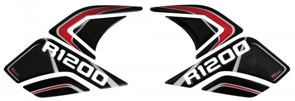 BIKE-label 800283 Seitentank Pad Carbon Stripes Red kompatibel für BMW R 1200 GS