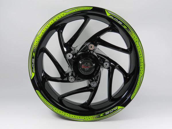 Set Felgenrand Aufkleber Grün Streifen kompatibel für Kawasaki Z900