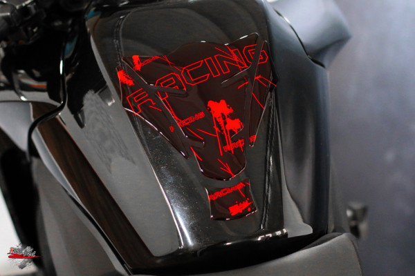 Tankpad Racing Neon Rot Form 15