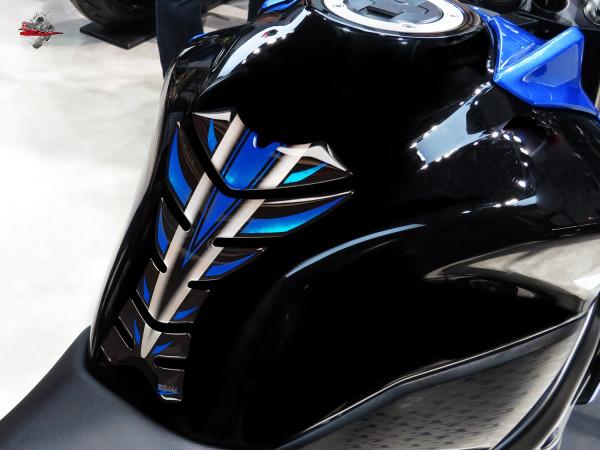 BIKE-label 502441 Tankpad Motorrad Aufkleber Blau Metallic