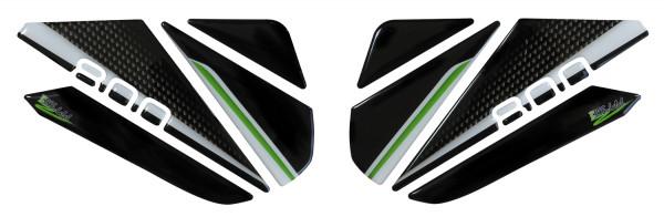 BIKE-label 800163 Seitentank Pad Carbon Grün kompatibel für Kawasaki Z800