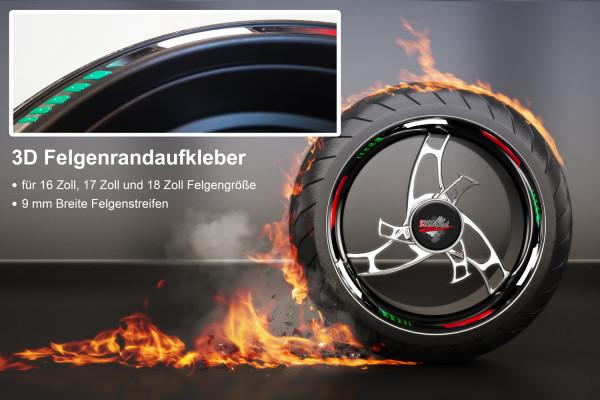 BIKE-label 700004 3D Felgenrand Aufkleber Italien